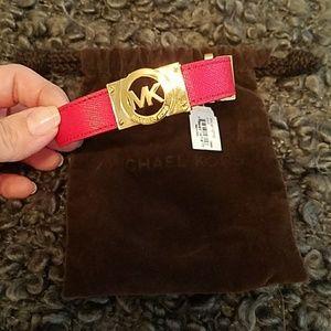 Michael Kors red buckle bracelet. NWT